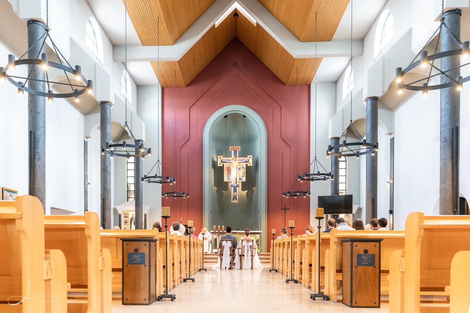 Ceremonia ślubna w Klasztorze oo. Dominikanów w Rzeszowie