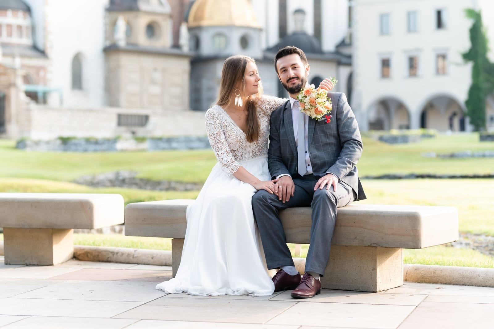 Plener ślubny w Krakowie, zdjęcie na Wawelu Gosia & Güner
