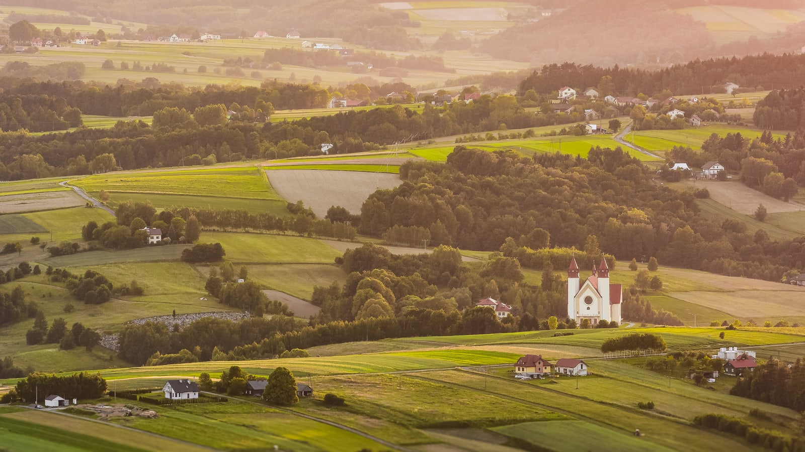 Czermna, widok z wieży widokowej na Górze Liwocz