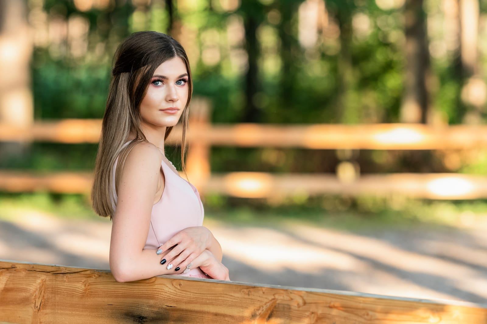 Sesja kobieca w plenerze, sesja portretowa, Chotowa